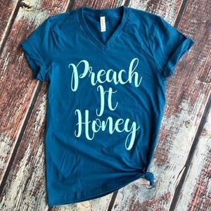 Tops - Preach It Honey Graphic T-Shirt
